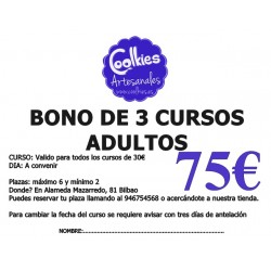 BONO DE 3 CURSOS ADULTOS