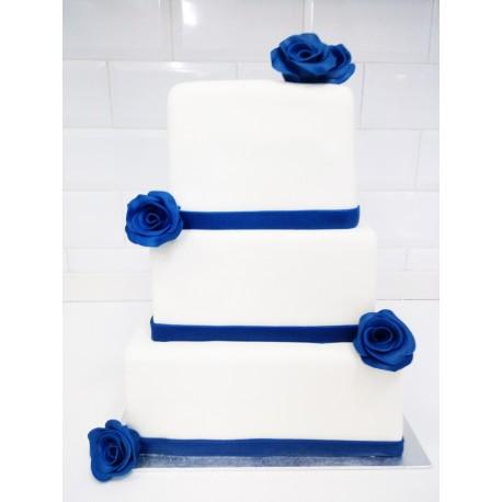 Tarta de boda en fondant
